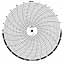 Honeywell 1500T  Ink Writing Circular Chart