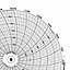 Honeywell 24001660-006  Ink Writing Circular Chart