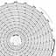Honeywell 24001660-136  Ink Writing Circular Chart