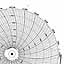 Honeywell 24001660-147  Ink Writing Circular Chart