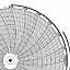 Honeywell 24001660-646  Ink Writing Circular Chart