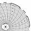 Honeywell 24001661-021  Ink Writing Circular Chart