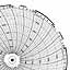 Honeywell 24001661-032  Ink Writing Circular Chart
