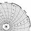 Honeywell 24001661-034  Ink Writing Circular Chart