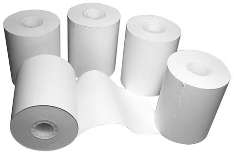 Roll of 5 Bacharach 0024-0980 Printer Paper for Environmental Combustion Analyzer