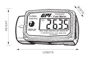 GPI 01A Series Fuel Meter