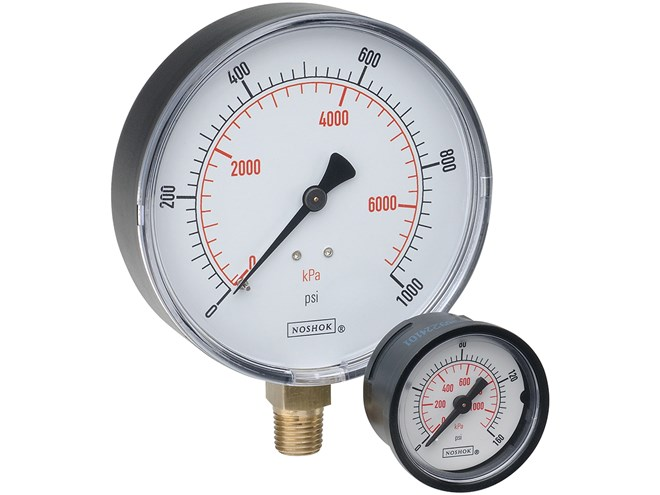NoShok 100 Series Pressure Gauges