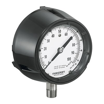 Ashcroft 1180 Series Analog Low Pressure Gauge