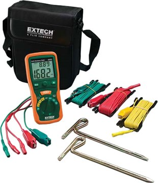 Extech 382252 Earth Ground Resistance Tester Kit