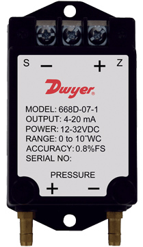 Dwyer 668B/D Differential Pressure Transmitters