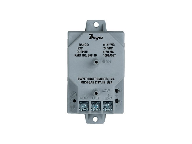 Dwyer 668 Differential Pressure Transmitter