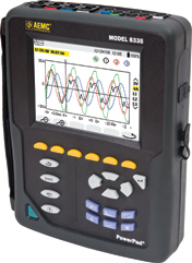 AEMC PowerPad 8335 Three-Phase Power Quality Analyzer