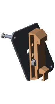 Optris ACCTRAIL Rail Mount Adapter