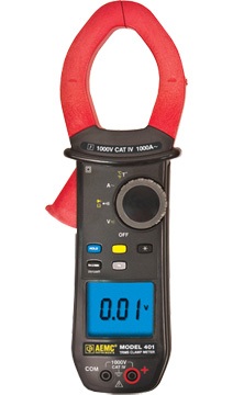 AEMC Model 401 TRMS Clamp On Meter