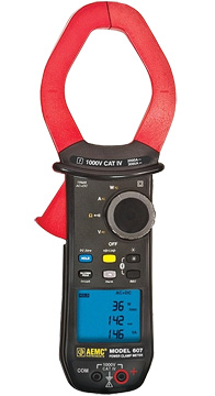 AEMC Model 607 TRMS Power Clamp On Meter