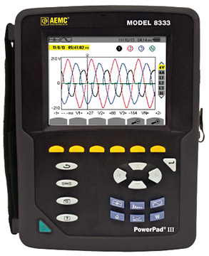 AEMC PowerPad III Model 8333 Power Quality Analyzers