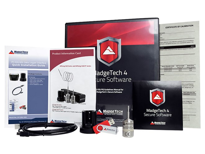 MadgeTech AVS140-1 Temperature Data Logging System