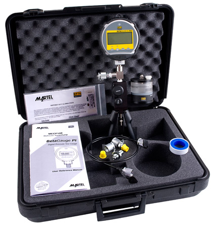 Martel BetaGauge PIR Pro Pressure Kit with MECP10K hydraulic test pump (above 500 psi)