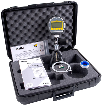 Martel BetaGauge PIR Pro Pressure Kit with MECP500 pneumatic test pump (500 psi and below)