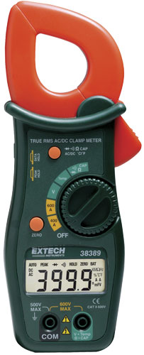 Clamp On Ammeter : Extech clamp on ammeter meters