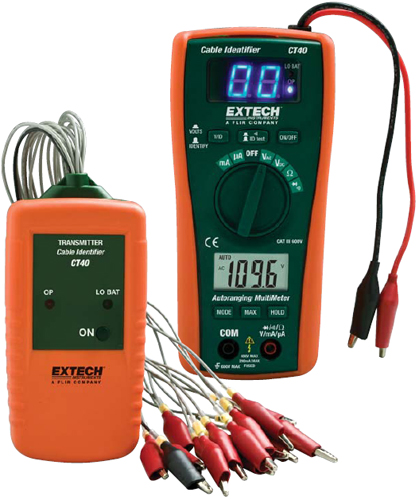 Extech CT40 16-Line Cable Identifier/Tester Kit