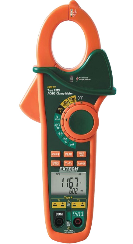 Extech EX613 Dual Input Clamp Meters
