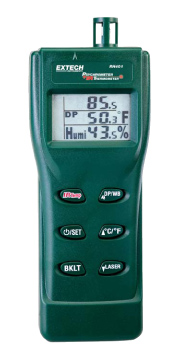 Extech RH401 Psychrometer with Infrared Thermometer