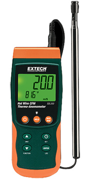 Extech SDL350 Hot Wire CFM Thermo-Anemometer