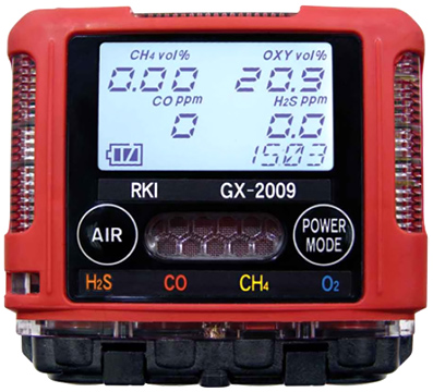 RKI Instruments GX-2009 MSHA Confined Space Monitor