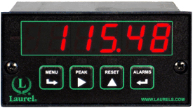 Laurel Laureate Load Cell, Strain Gauge & Microvolt Digital Panel Meter