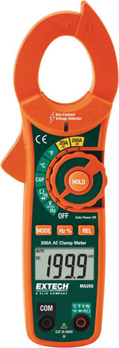 Extech MA250 200A AC Clamp Meter + NCV