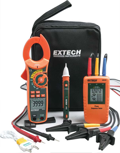 Extech Phase Rotation/Clamp Meter Test Kit (MA640-K)