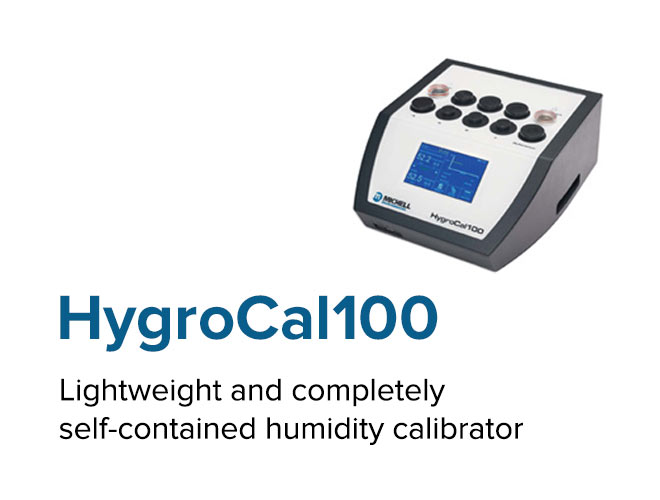 HygroCal100 - Lightweight and completely self-contained humidity calibrator
