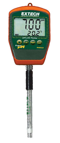 Extech Ph Meter : Extech ph waterproof palm meter orp meters