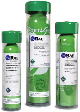 RAE Systems MultiRae Green Calibration Gas Cylinders