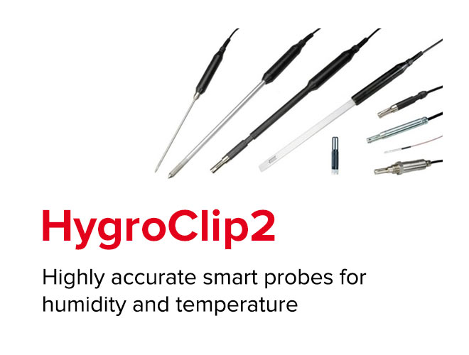 HygroClip2 - Highly accurate smart probes for humidity and temperature