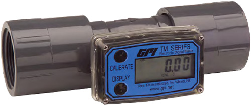Electronic Water Flow Meter : Gpi tm series water meter turbine paddlewheel flow