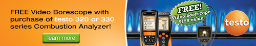 FREE Testo video borescope ($159 value)