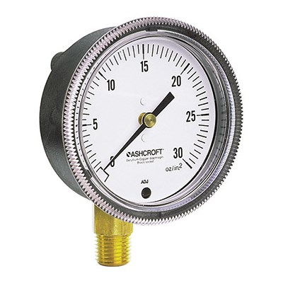 Ashcroft 1490 Analog Low Pressure Gauge