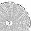 Honeywell 24001661-628  Ink Writing Circular Chart