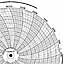 Honeywell 24001660-613  Ink Writing Circular Chart