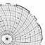 Honeywell 24001661-022  Ink Writing Circular Chart
