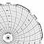 Honeywell 24001661-024  Ink Writing Circular Chart