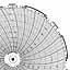 Honeywell 24001661-042  Ink Writing Circular Chart