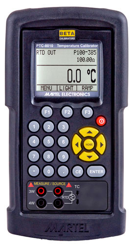 Martel Ptc 8010 Rtd And Thermocouple Calibrator