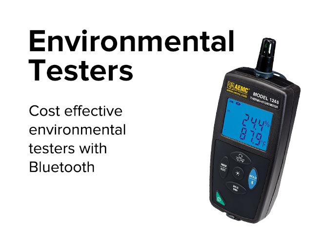 Environmental Testers - Cost effective environmental testers with Bluetooth