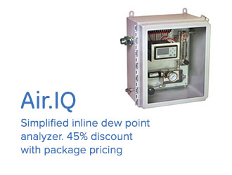 Air.IQ - Simplified inline dew point analyzer. 45% discount with package pricing.