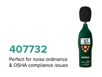 Perfect for noise ordinance & OSHA compliance issues.​