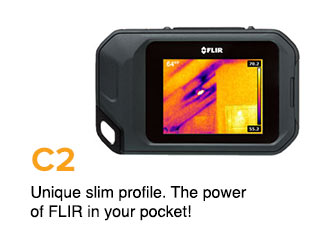 Unique slim profile. The power of FLIR in your pocket!
