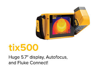 "Huge 5.7"" display, Autofocus, and Fluke Connect!"